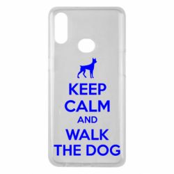 Чохол для Samsung A10s KEEP CALM and WALK THE DOG