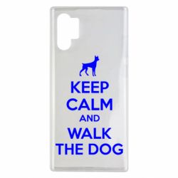 Чохол для Samsung Note 10 Plus KEEP CALM and WALK THE DOG