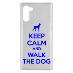 Чохол для Samsung Note 10 KEEP CALM and WALK THE DOG