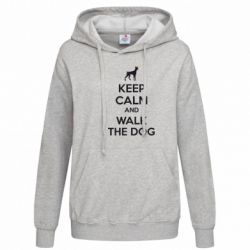 Женская толстовка KEEP CALM and WALK THE DOG - FatLine