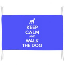 Прапор KEEP CALM and WALK THE DOG
