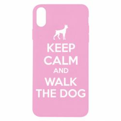 Чохол для iPhone X/Xs KEEP CALM and WALK THE DOG