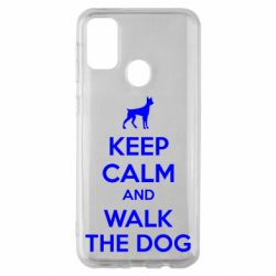 Чохол для Samsung M30s KEEP CALM and WALK THE DOG