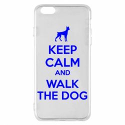 Чохол для iPhone 6 Plus/6S Plus KEEP CALM and WALK THE DOG