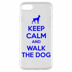 Чохол для iPhone 7 KEEP CALM and WALK THE DOG