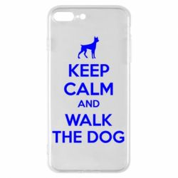Чохол для iPhone 8 Plus KEEP CALM and WALK THE DOG