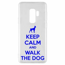 Чохол для Samsung S9+ KEEP CALM and WALK THE DOG