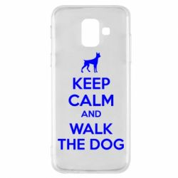 Чохол для Samsung A6 2018 KEEP CALM and WALK THE DOG