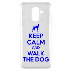 Чохол для Samsung A6+ 2018 KEEP CALM and WALK THE DOG