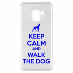 Чохол для Samsung A8 2018 KEEP CALM and WALK THE DOG