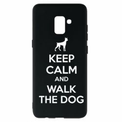 Чохол для Samsung A8+ 2018 KEEP CALM and WALK THE DOG