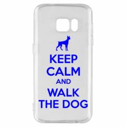 Чохол для Samsung S7 KEEP CALM and WALK THE DOG
