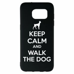 Чохол для Samsung S7 EDGE KEEP CALM and WALK THE DOG
