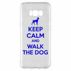 Чохол для Samsung S8+ KEEP CALM and WALK THE DOG