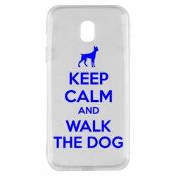 Чохол для Samsung J3 2017 KEEP CALM and WALK THE DOG