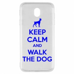 Чохол для Samsung J7 2017 KEEP CALM and WALK THE DOG