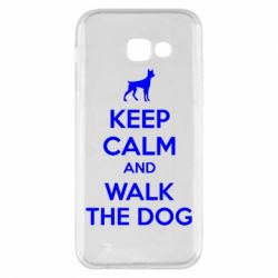 Чохол для Samsung A5 2017 KEEP CALM and WALK THE DOG