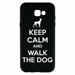 Чохол для Samsung A7 2017 KEEP CALM and WALK THE DOG