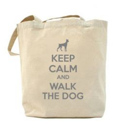 Сумка KEEP CALM and WALK THE DOG