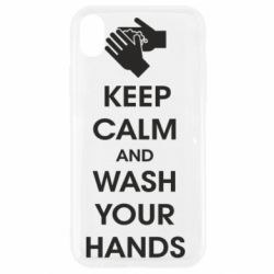 Чохол для iPhone XR Keep calm and wash your hands