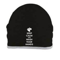 Шапка Keep calm and wash your hands