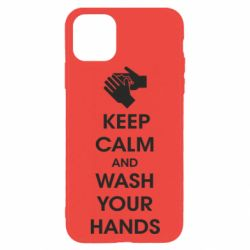Чохол для iPhone 11 Pro Max Keep calm and wash your hands