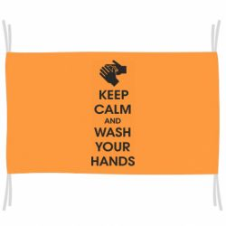 Прапор Keep calm and wash your hands