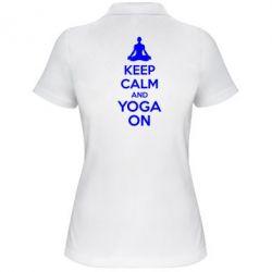 Женская футболка поло KEEP CALM and YOGA ON - FatLine