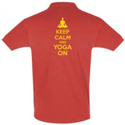 Футболка Поло KEEP CALM and YOGA ON - FatLine