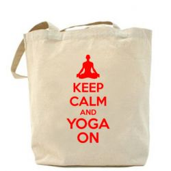 Сумка KEEP CALM and YOGA ON