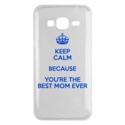 Чехол для Samsung J3 2016 KEEP CALM because you're the best mom ever - FatLine