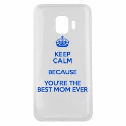 Чехол для Samsung J2 Core KEEP CALM because you're the best mom ever