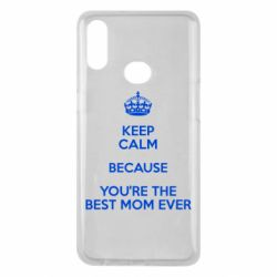Чехол для Samsung A10s KEEP CALM because you're the best mom ever