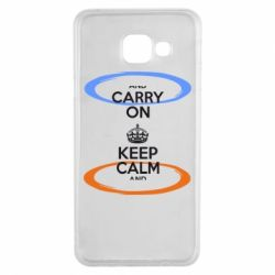 Чехол для Samsung A3 2016 KEEP CALM teleport - FatLine