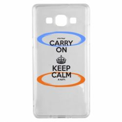Чехол для Samsung A5 2015 KEEP CALM teleport - FatLine