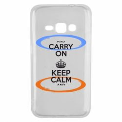 Чехол для Samsung J1 2016 KEEP CALM teleport - FatLine