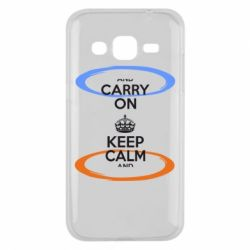 Чехол для Samsung J2 2015 KEEP CALM teleport - FatLine