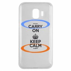 Чехол для Samsung J2 2018 KEEP CALM teleport - FatLine