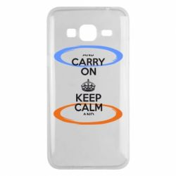 Чехол для Samsung J3 2016 KEEP CALM teleport - FatLine