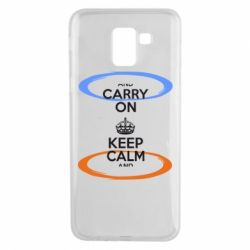 Чехол для Samsung J6 KEEP CALM teleport - FatLine