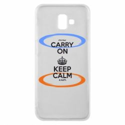 Чехол для Samsung J6 Plus 2018 KEEP CALM teleport - FatLine