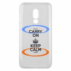 Чехол для Meizu 16 KEEP CALM teleport - FatLine