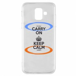 Чехол для Samsung A6 2018 KEEP CALM teleport - FatLine
