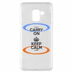 Чехол для Samsung A8 2018 KEEP CALM teleport - FatLine