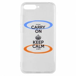 Чехол для Huawei Y6 2018 KEEP CALM teleport - FatLine