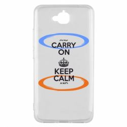 Чехол для Huawei Y6 Pro KEEP CALM teleport - FatLine