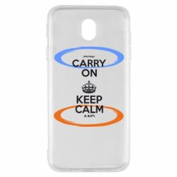 Чехол для Samsung J7 2017 KEEP CALM teleport - FatLine