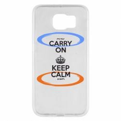 Чехол для Samsung S6 KEEP CALM teleport - FatLine