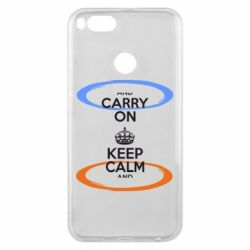 Чехол для Xiaomi Mi A1 KEEP CALM teleport - FatLine