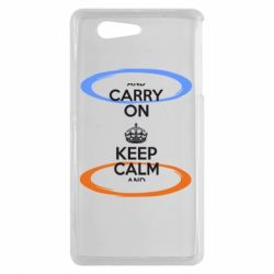 Чехол для Sony Xperia Z3 mini KEEP CALM teleport - FatLine